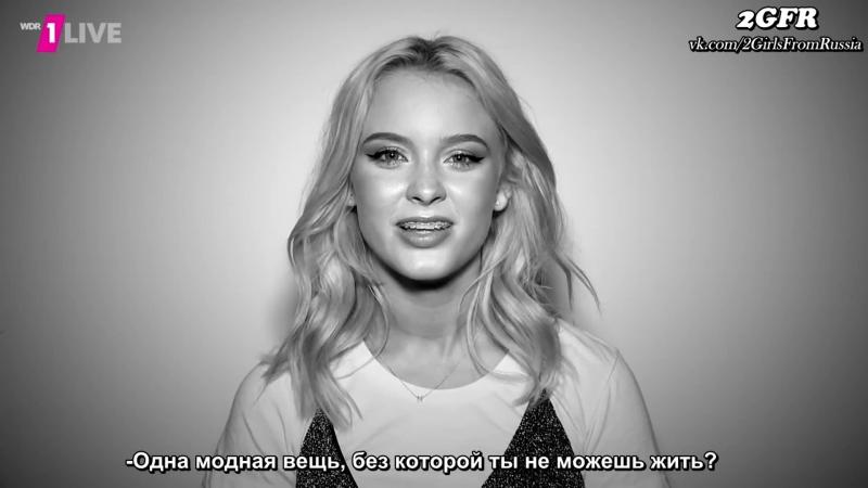 Rus sub Zara Larsson im 1LIVE Fragenhagel 1LIVE mit Untertiteln