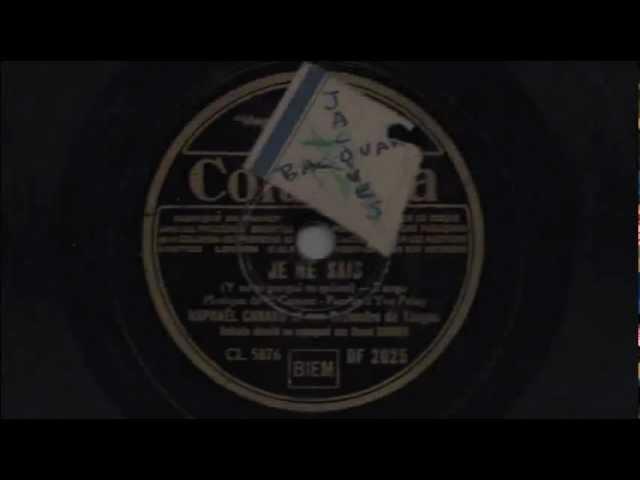 Tango Argentino - Rafael Canaro Jaime Plana - Yo no sé porque te quiero - 1936