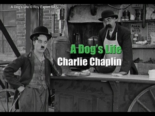 Charlie Chaplin and his brother Sydney in a scene from A Dog's Life (1918)