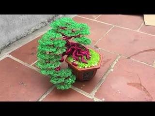 bonsai từ dây đồng | làm cây bonsai handmade bằng dây đồng | bonsai handmade ha noi.