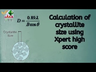 Crystallite size Calculation from XRD diffraction data by Xpert highscore