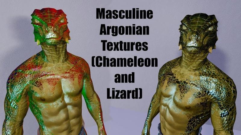 ⭕Skyrim Mods Masculine Argonian Textures Chameleon and Lizard