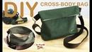 DIY CROSS-BODY BAG, easy making วิธีทำกระเป๋าสะพายข้างแบบเท่ห์ๆ