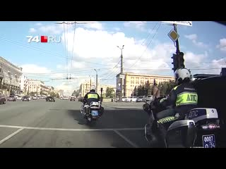 ДТП с полицейским в Челябинске