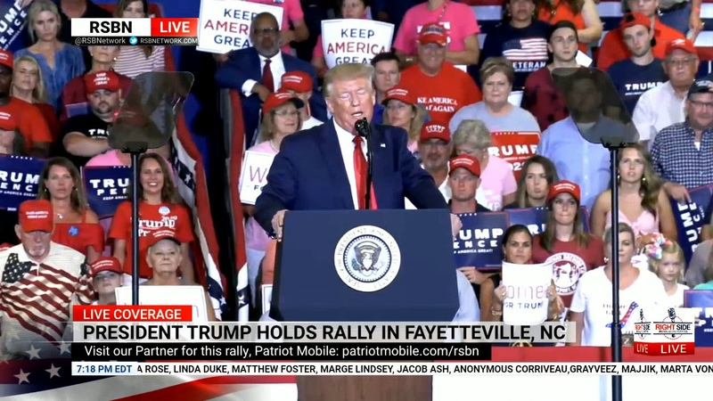 Pres Trump Delivers Speech at Fayetteville 'KAG' Rally