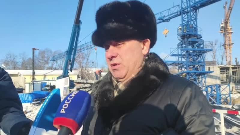 Визит мэра Хабаровска на стройку Талан