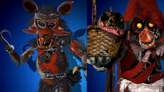 BIG BAD FOXY AND LITTLE RED CHICA SKINS WORKSHOP ANIMATIONS 360 60FPS 1080p | FNaF AR