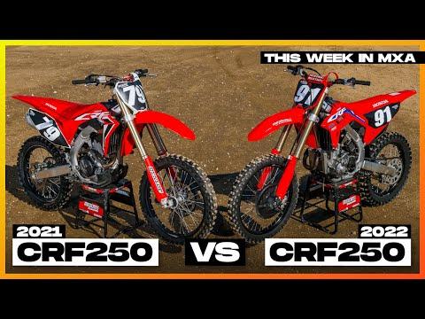 2022 Honda CRF250 VS 2021 Honda CRF250 This Week in MXA Episode 36