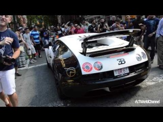 Woman Wants to Hear the Bugatti Veyron Supersport REV! Crowd Goes Crazy for Pur Blanc